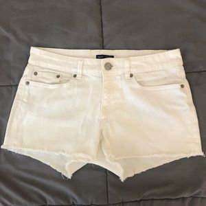 White Gap Denim Cutoff Shorts